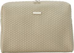 JJDK Cosmetic Bag Bellami Large Beige Weave PU (31x20x18) 61336