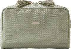 JJDK Cosmetic Bag Palm Soft Green Wowen PU (31x18x11 ) 61363