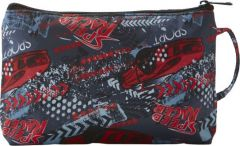 JJDK Cosmetic Bag Racer Grey & Red Racer Speed Nylon (22 x 15 x 7) 90282