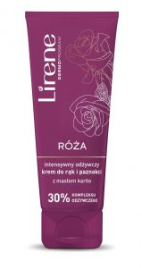 Lirene ROSE Intensely Nourishing Hand and Nail Cream with Karite Butter (75mL)