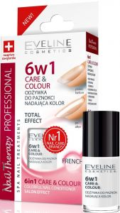 Eveline Cosmetics Nail Therapy 6in1 Care & Colour French (12mL)