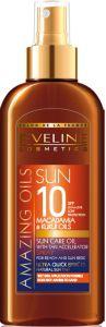 Eveline Cosmetics Amazing Oils Sun Care Oil With Tan Accelerator Spf10 (150mL)
