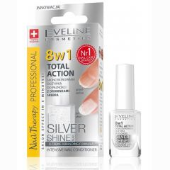 Eveline Cosmetics Nail Therapy Total Action Intensive Nail Conditioner With Silver Particles (12mL)