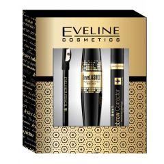 Eveline Cosmetics Eye Make-upgift Set: Eye Liner Pencil, Mascara, Eyebrow Corrector