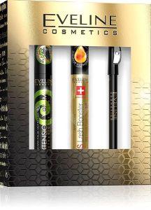 Eveline Cosmetics Eye Make-upgift Set: Mascara, Lash Booster, Eye Pencil