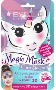 Eveline Cosmetics Fabric Face Mask Magic Mask Unicorm