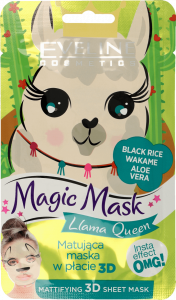 Eveline Cosmetics Fabric Face Mask Magic Mask Llama