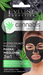Eveline Cosmetics Cannabis Skincare Face Mask Charcoal&Cannabis (7mL)