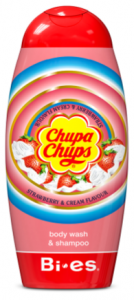Bi-es Chupa Chups 2in1 Shampoo & Shower Gel Strawberry (250mL)