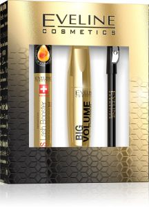 Eveline Cosmetics Eye Make-upgift Set: Mascara, Lash Booster, Eye Liner Pencil