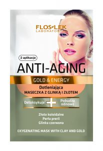 Floslek Gold&Energy Oxygenating Mask With Clay and Gold (2x5mL)