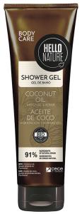 Hello Nature Shower Gel Coconut Oil Moisture & Repair (250mL)