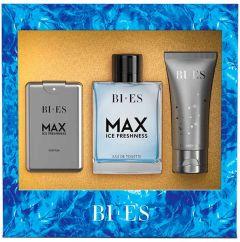 Bi-es Max Ice Fresh Gift Set for Men EDT (100mL) + SG (50mL) + EDT (15mL)