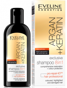 Eveline Cosmetics Argan + Keratin Shampoo 8in1 (150mL)