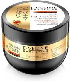 Eveline Cosmetics Argan + Keratin Hair Mask 8in1 (300mL)