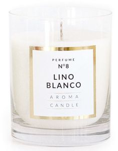 Artman Candles Aroma Candle Classic Class Lino Blanco (8x9,5cm)
