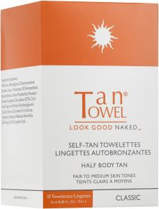 Tan Towel Self Tan Towelettes Half Body (10pcs) Classic Fair to Medium Skin