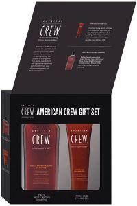 American Crew Firm Hold Gel (250mL) + Daily Moisturizing Shampoo (250mL) Gift Box