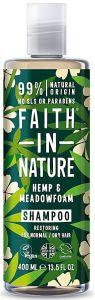 Faith in Nature Restoring Shampoo Hemp & Meadowfoam (400mL)