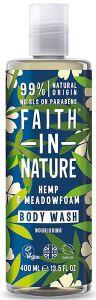 Faith in Nature Nourishing Shower Gel/Foam Bath Hemp&Meadowfoam (400mL)