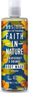 Faith in Nature Energising Shower Gel/Foam Bath Grapefruit&Orange (400mL)