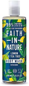Faith in Nature Refreshing Shower Gel/Foam Bath Lemon& Tea Tree (400mL)