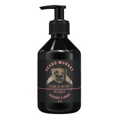 Beard Monkey Hair&body Shampoo Bergamot&Amber (250mL)