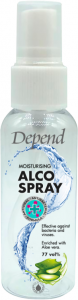 Depend Moisturising Alco Spray 77vol% Effective Against Bacteria and Viruses (50mL)