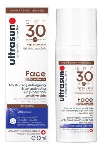 Ultrasun Tan Activator Face Gel SPF30 (50mL)
