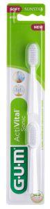 Gum Activital Sonic Power Toothbrush Refills White