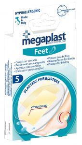 Megaplast Feet Hydrocolloid Blister Plasters (5pcs)
