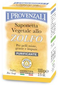 I Provenzali Purifying Face Bar Soap Sulphur (100g)