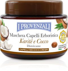 I Provenzali Shea Butter Silky Mask Shea and Coconut, Dry and Frizzy Hair (200mL)