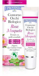I Provenzali Rosa Mosqueta Organic Eye Contour Cream Anti-Puffiness (15mL)