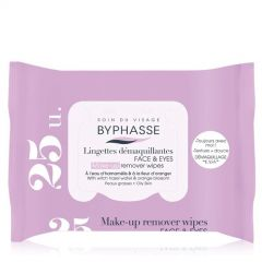 Byphasse Make-Up Remover Wipes Oily Skin Pop-Up (25pcs)