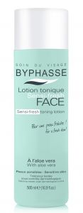 Byphasse Sensi-Fresh Toning Lotion with Aloe Vera Skin (500mL)