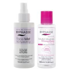 Byphasse Promo Pack Face Mist Re-hydrating Combination To Oily Skin (150mL) + Micellar Make-up Remover Solution
