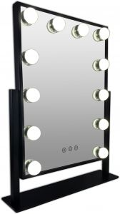 Gerard Brinard Black Hollywood Make-up Led Mirror (48x34x8cm)