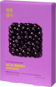 Holika Holika Pure Essence Mask Sheet - Acai Berry (5x23mL)