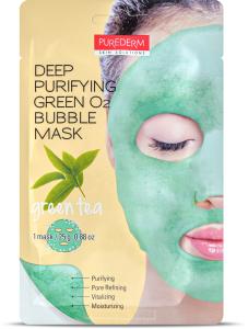 Purederm Deep Purifying Green O2 Bubble Mask
