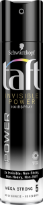 Taft Hairspray Invisible Mega Stong (250mL)