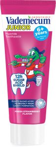 Vademecum Kids Toothpaste Junior 6+ Strawberry (75mL)
