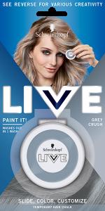 Schwarzkopf Live Paint it! (3.5g) Hair chalk Grey Crush