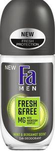 Fa Men Deodorant Roll-on - Fresh & Free Mint & Bergamot (50mL)