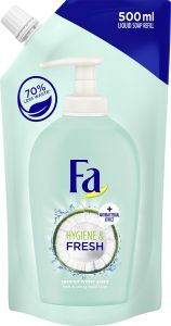 Fa Liquid Soap Refill Hygiene & Fresh Coconut With Antibacterial Effect (500mL)