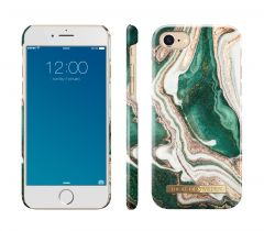 iDeal of Sweden Fashion Case iPhone 8/7/SE (2020) Golden Jade Marble