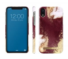 iDeal of Sweden Fashion Case iPhone XR Golden Burgundy Marble