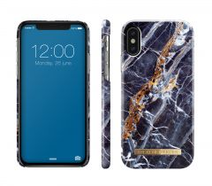 iDeal of Sweden Fashion Case iPhone X/Xs Midnight Blue Marble