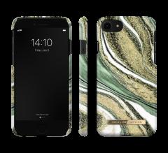 iDeal of Sweden Fashion Case iPhone 8/7/SE (2020) Cosmic Green Swirl