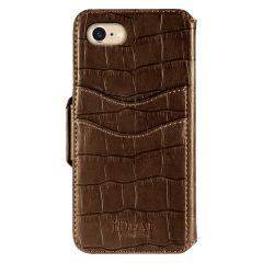 iDeal of Sweden Fashion Wallet iPhone 8/7/SE (2020) Capri & Como, Brown Croco